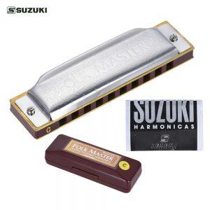 Suzuki 1072-A Folk Master 10-Hole Harmonica