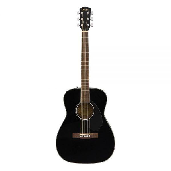 Fender CC-60S Concert Acoustic Guitar Pack V2, Walnut FB, Black