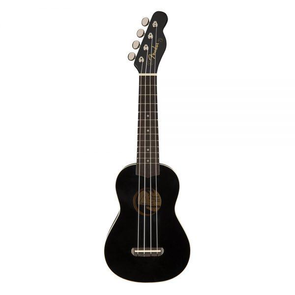 Fender Venice Soprano Ukulele, Walnut FB, Black