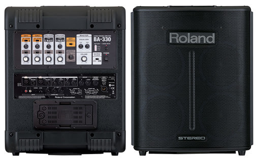 """Roland BA-330 Portable  PA Amplifier Stereo 15Wx2, 6.5"""", 4Ch"""