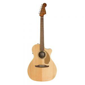 Fender California Newporter Player Medium-Sized Acoustic Guitar, Natural