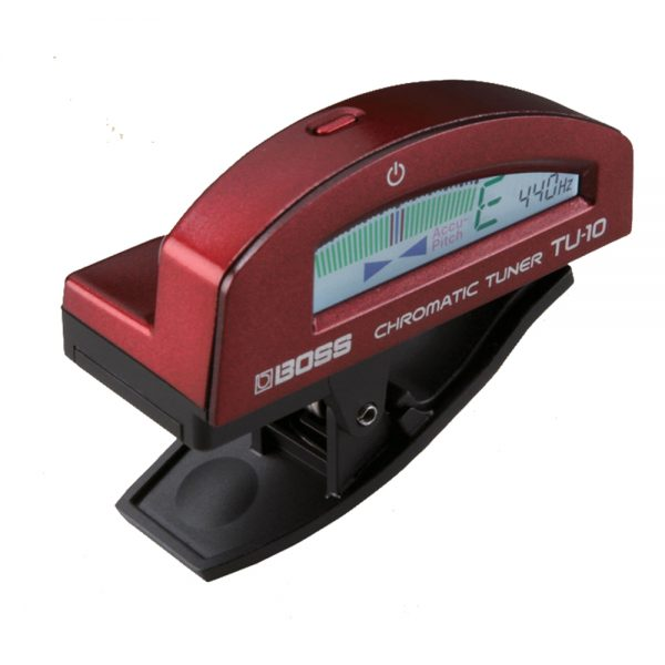 Boss TU-10 RD Red Clip-on Tuner