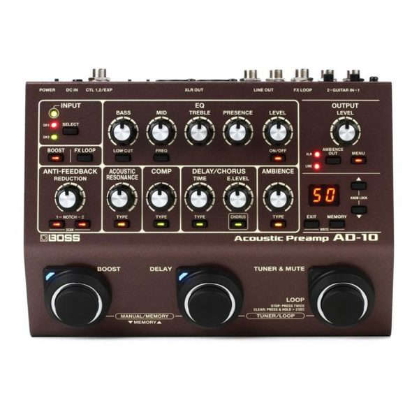 Boss AD-10 Acoustic Guitar Processor  Acoustic Preamp