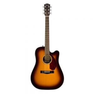Fender CD-140SCE Dreadnought Acoustic Guitar w-Cutaway & Electronics & Case, Sunburst