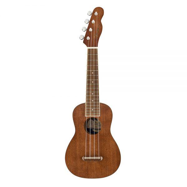 Fender Seaside Soprano Ukulele, Walnut FB, Natural