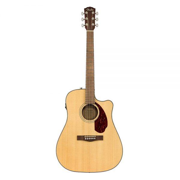 Fender CD-140SCE Dreadnought Acoustic Guitar w-Case, Walnut FB, Natural