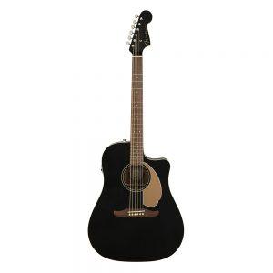 Fender California Redondo Player Left-Handed Acoustic Guitar, Jetty Black