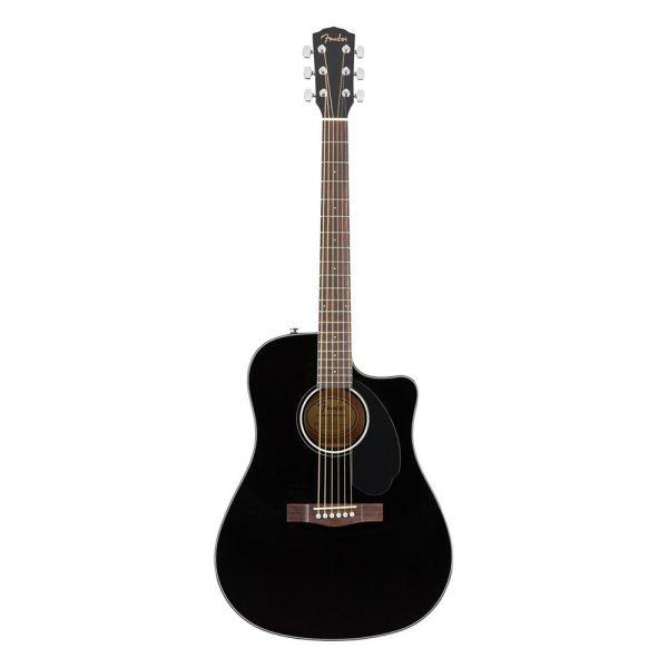 Fender CC-60SCE Concert Acoustic Guitar, Walnut FB, Black