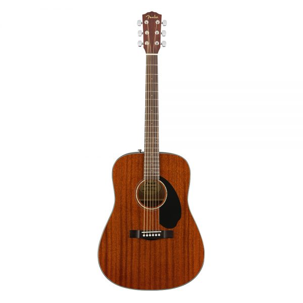 Fender CD-60S Dreadnought Acoustic Guitar, All Mahogany