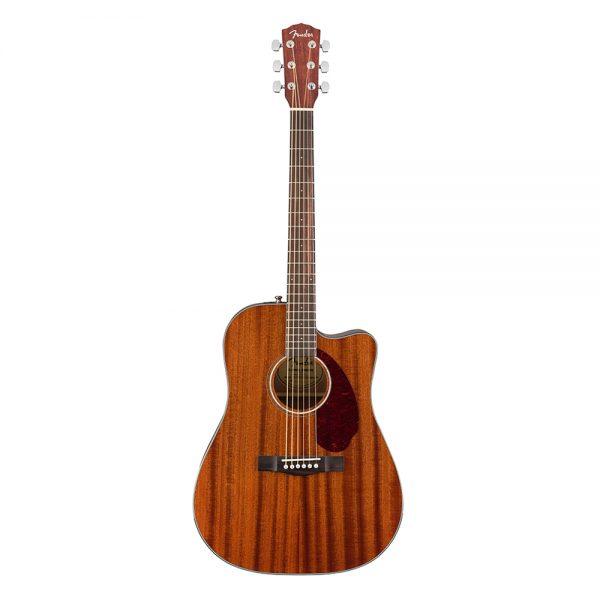 Fender CD-140SCE Dreadnought Acoustic Guitar w-Case, Walnut FB, All-Mahogany