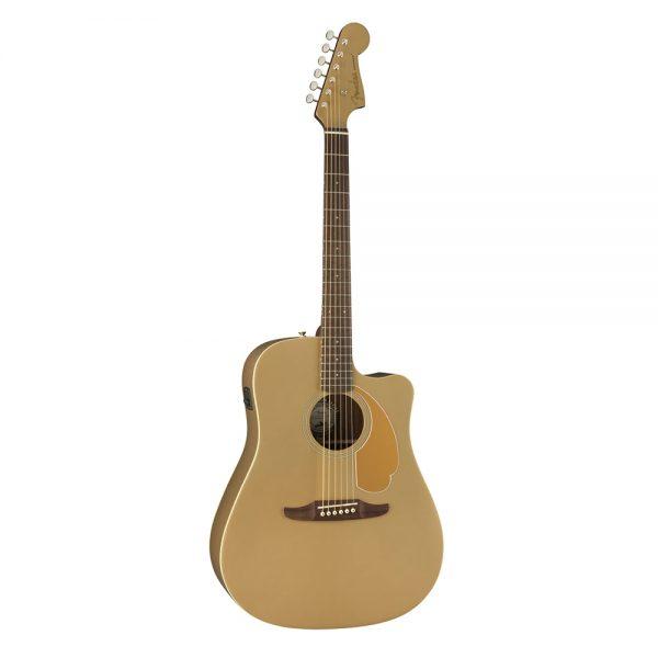 Fender California Redondo Player Slope-Shouldered Acoustic Guitar, Walnut FB, Bronze Satin