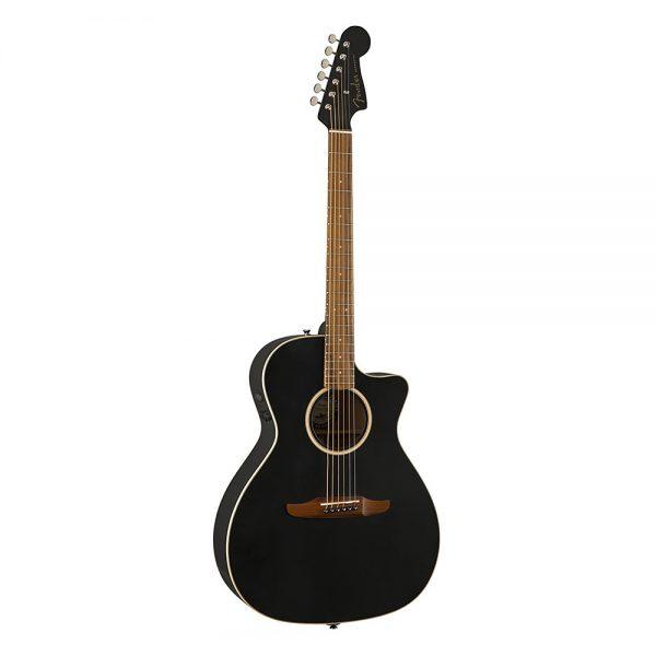 Fender California Newporter Special Medium-Sized Acoustic Guitar w-Bag, Matte Black