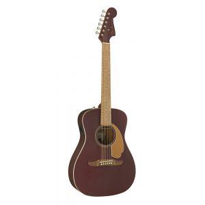 Fender California Malibu Player Small-Bodied Acoustic Guitar, Walnut FB, Burgundy Satin
