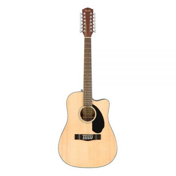 Fender CD-60SCE Dreadnought 12-string Acoustic Guitar, Walnut FB, Natural