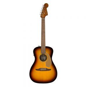 Fender California Malibu Player Small-Bodied Acoustic Guitar, Walnut FB, Sunburst