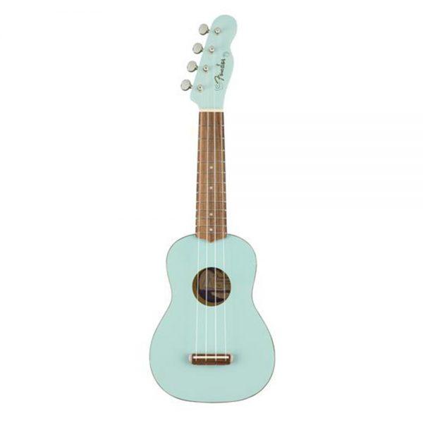 Fender Venice Soprano Ukulele, Walnut FB, Daphne Blue