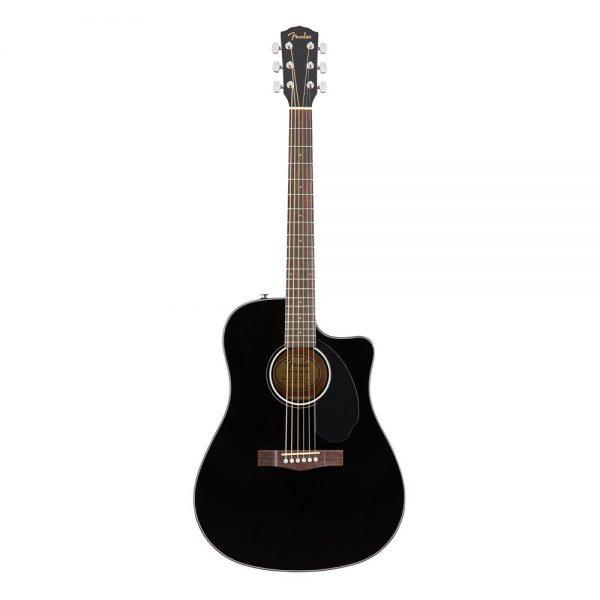 Fender CD-60SCE Dreadnought Acoustic Guitar, Walnut FB, Black