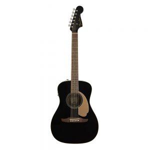 Fender California Malibu Player Small-Bodied Acoustic Guitar, Walnut FB, Jetty Black