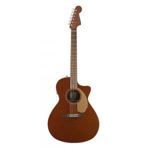 Fender California Newporter Player Medium-Sized Acoustic Guitar, Rustic Copper
