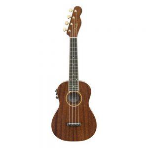 Fender Grace VanderWaal Signature Ukulele w-Bag, Walnut FB, Natural