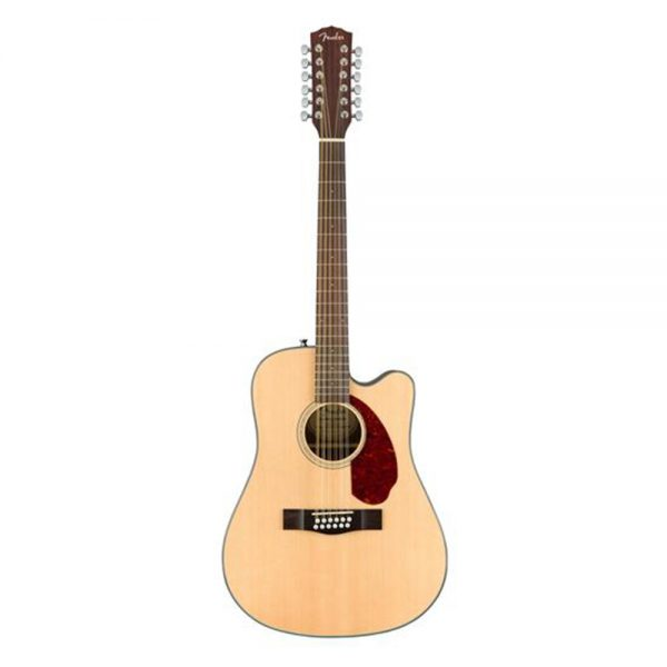 Fender CD-140SCE Dreadnought 12 String Acoustic Guitar w-Cutaway & Electronics & Case, Natural