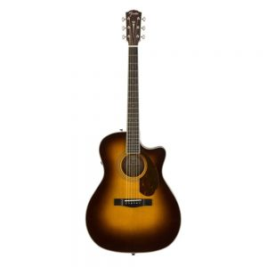 Fender PM-4CE Ltd Ed Auditorium Acoustic Guitar w-Cutaway & Electronics, Sunburst