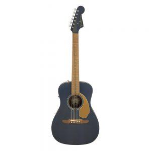Fender California Malibu Player Small-Bodied Acoustic Guitar, Walnut FB, Midnight Satin