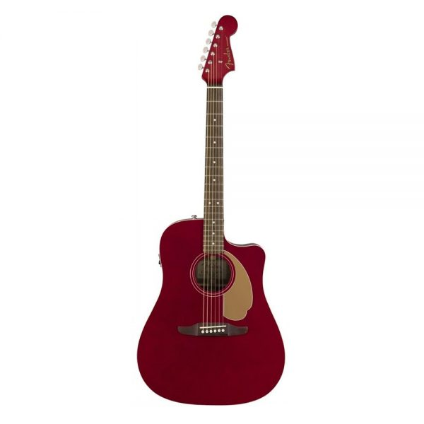 Fender California Redondo Player Slope-Shouldered Acoustic Guitar, Candy Apple Red