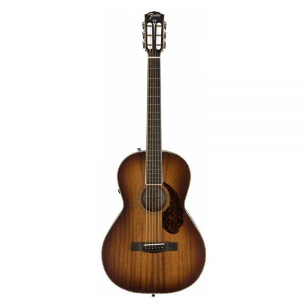 Fender Ltd Ed PM-2E Parlor All-Mahogany Acoustic Guitar w-Electronics, Antique Cognac Burst