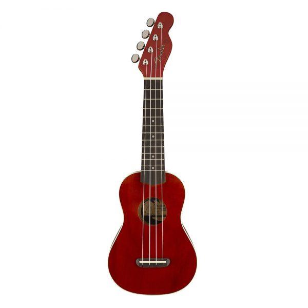 Fender Venice Soprano Ukulele, Walnut FB, Cherry