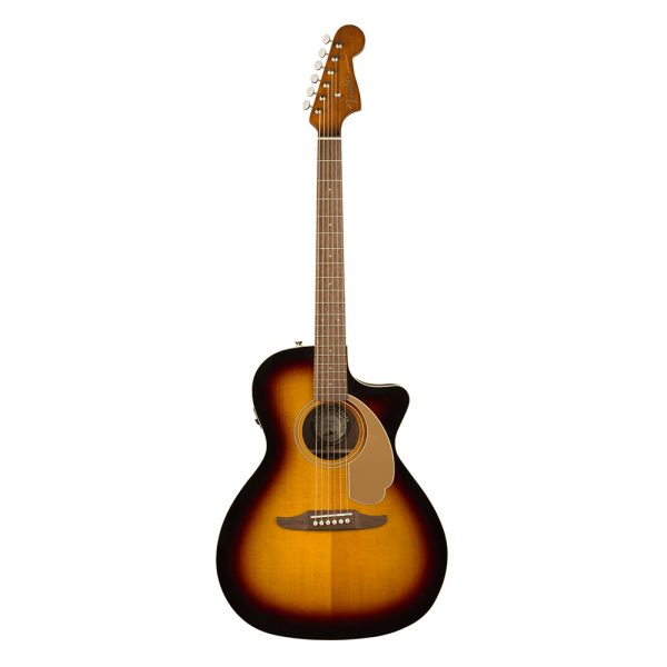 Fender California Newporter Player Medium-Sized Acoustic Guitar, Sunburst