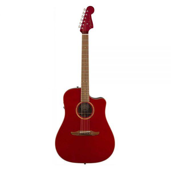 Fender Redondo Classic Slope-Shouldered Acoustic Guitar w-Bag, Hot Rod Red Metallic