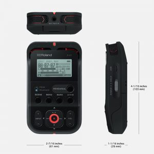 Roland R-07 (BK/RD/WH) Recorder
