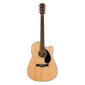 Fender CC-60SCE Concert Acoustic Guitar, Walnut FB, Natural