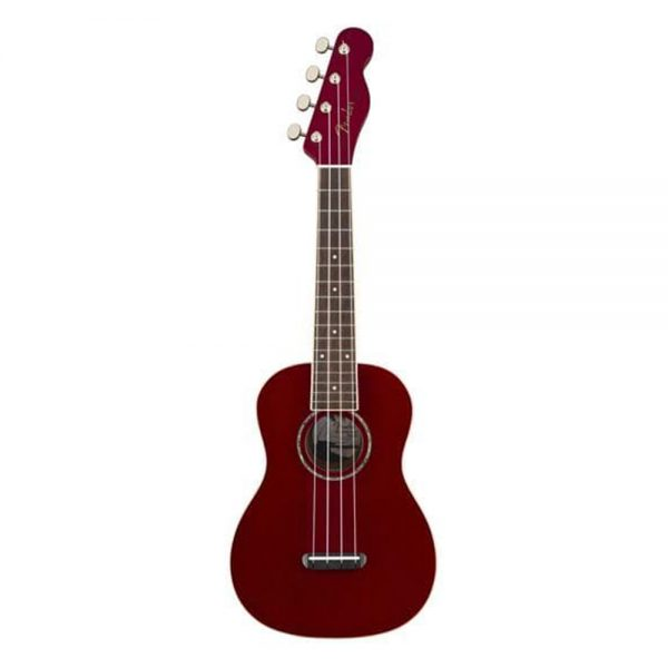 Fender Zuma Classic Concert Ukulele, Walnut FB, Candy Apple Red