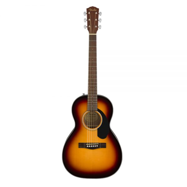 Fender CP-60S Parlor Acoustic Guitar, Walnut FB, Sunburst