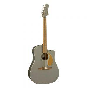 Fender California Redondo Player Slope-Shouldered Acoustic Guitar, Walnut FB, Slate Satin
