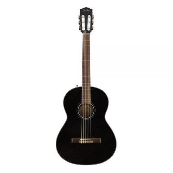 Fender CN-60S Nylon String Classical Guitar, Walnut FB, Black