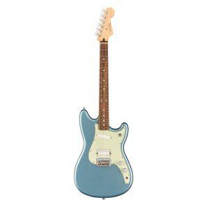 Fender Player Duo-Sonic HS Electric Guitar, Maple FB, Crimson Red Transparent