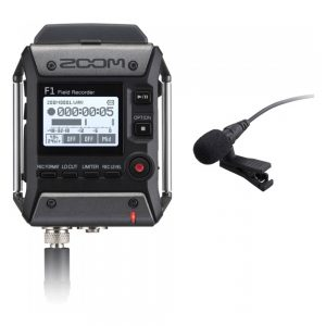 Zoom F1-LP with LMF-1, BCF-1 Field Recorder + Lavalier Mic