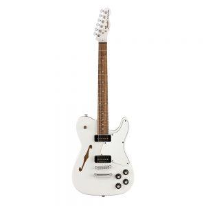 Fender Jim Adkins JA-90 Telecaster Thinline Electric Guitar, Maple FB, Laurel White