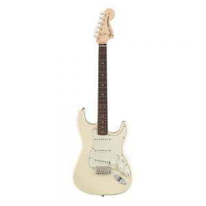 Fender Albert Hammond Jr Signature Stratocaster Electric Guitar, Rosewood FB, Olympic White