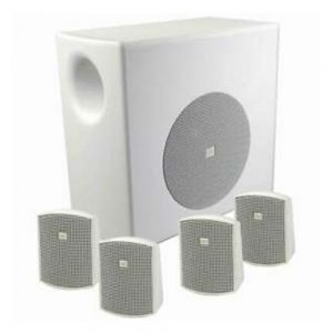 JBL C50PACK-WH Packaged Surface-Mount Subwoofer-Satellite